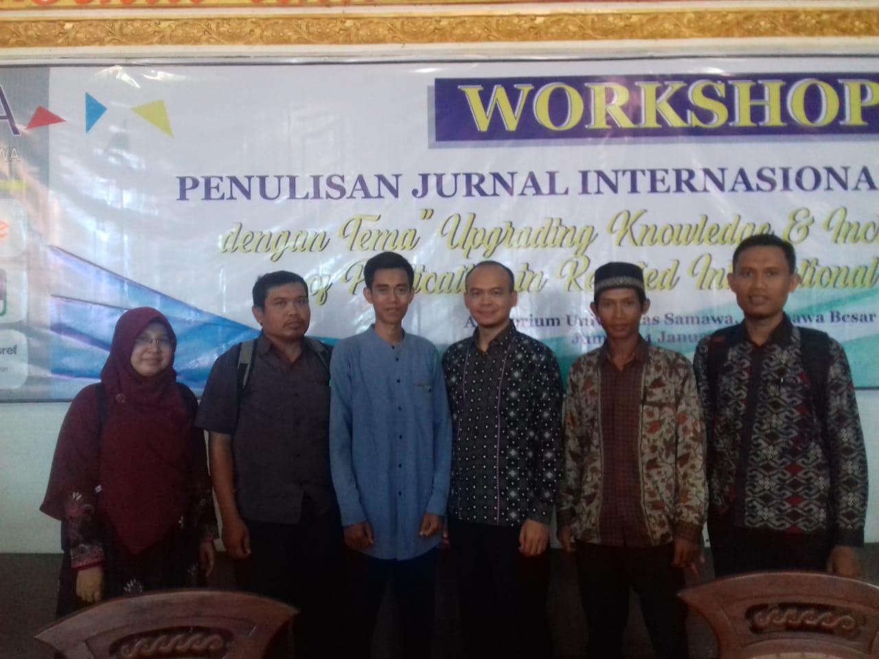 Dosen Sekolah Tinggi Agama Islam Nahdlatul Wathan Samawa Ikuti Workshop Penulisan Jurnal Internasional Bereputasi