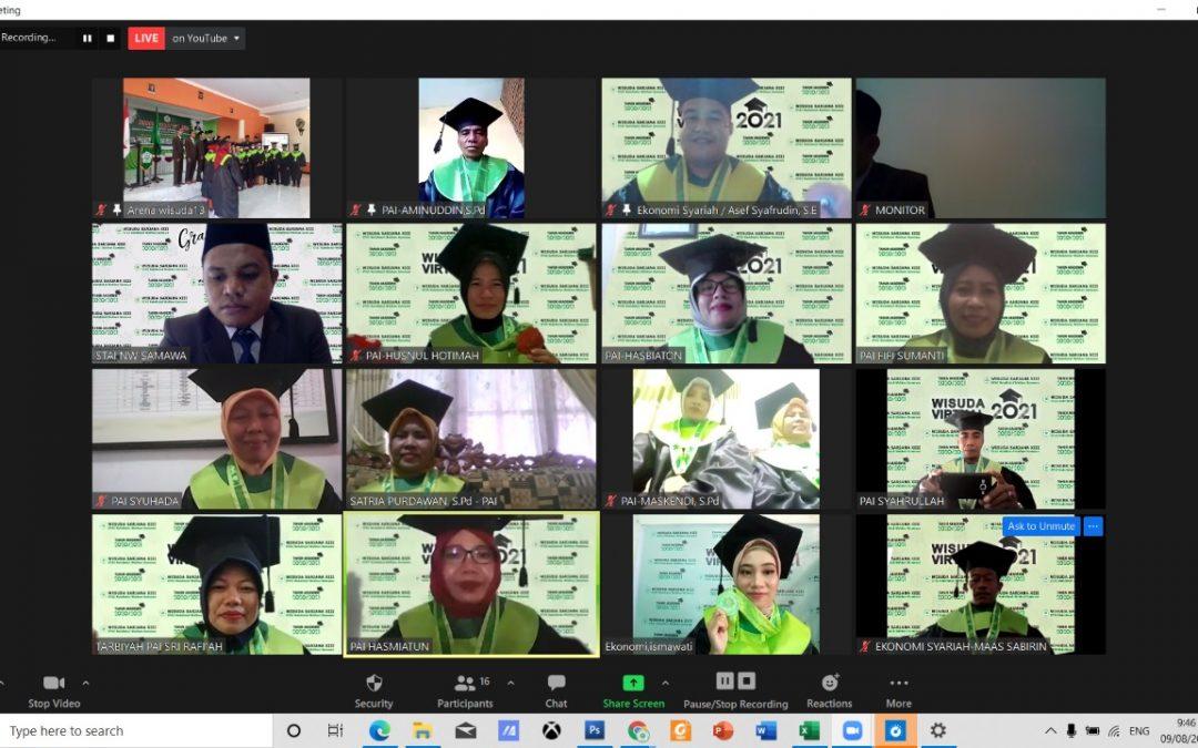 Wisuda Ke 13 STAI NW Samawa Sukses Dilaksanakan Secara Virtual